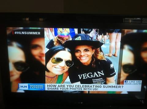 Jane Velez-Michell Good Morning America Vegan Shirt
