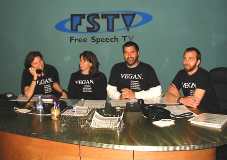 Vegan Shirt free speech tv early days